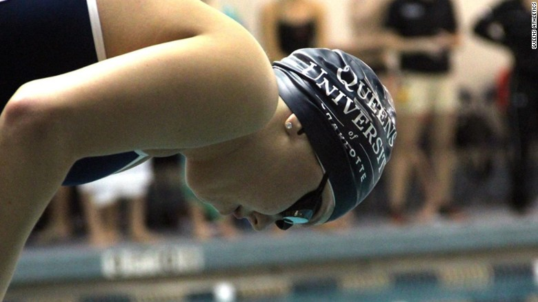 College swimmer comes back from cancer