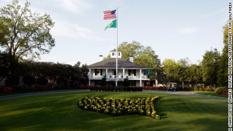 AUGUSTA, GA - APRIL 09:  A general view of the club house prior to the start of the 2014 Masters Tournament at Augusta National Golf Club on April 9, 2014 in Augusta, Georgia.  (Photo by Ezra Shaw/Getty Images for Golfweek)