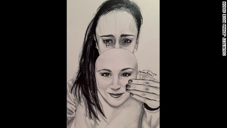 Jenna Simon's art helped her convey her struggle with an eating disorder.