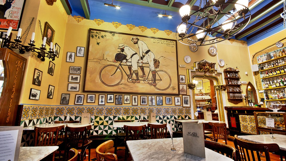 <strong>Els 4 Gats: </strong>Els 4 Gats, a cafe in Barcelona's Gothic Quarter, is renowned for being a popular hangout for Picasso and his artist contemporaries.