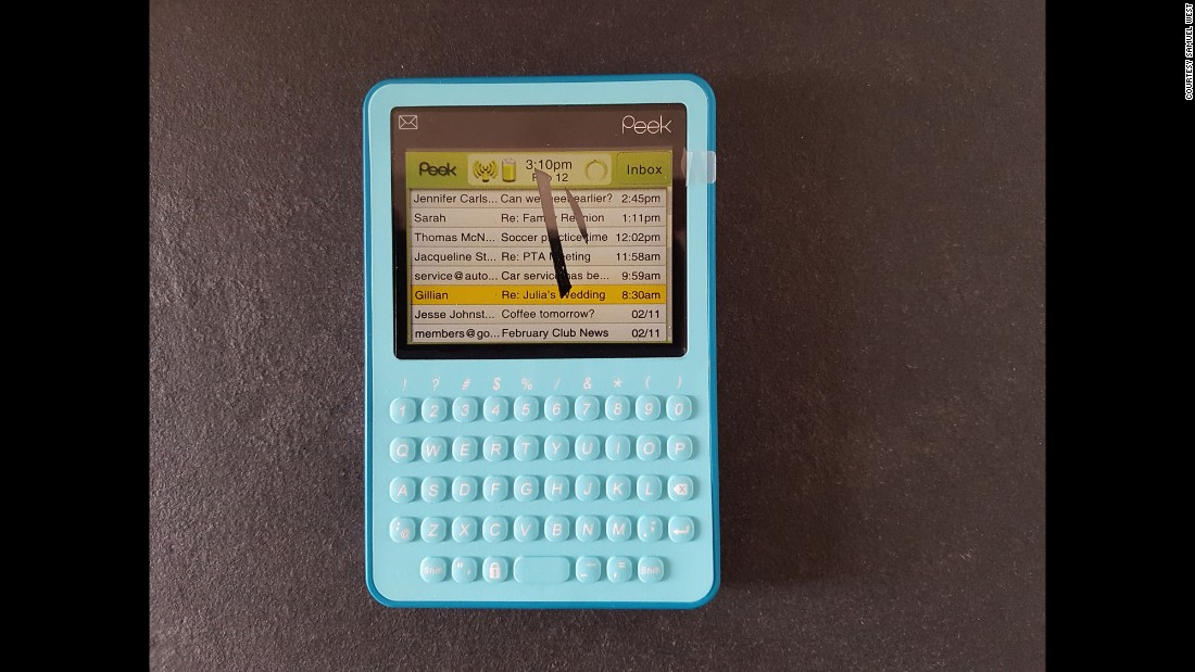The Twitter Peek, an electronic device for writing tweets, was launched in 2008. The screen was too small to show a whole tweet and the rise of smartphones soon made it redundant.