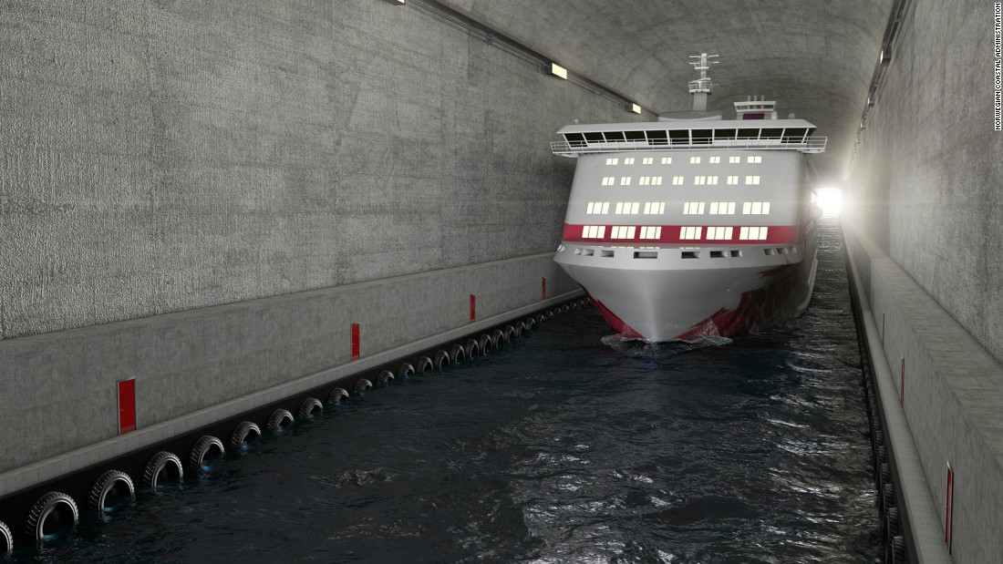 norway ship tunnel