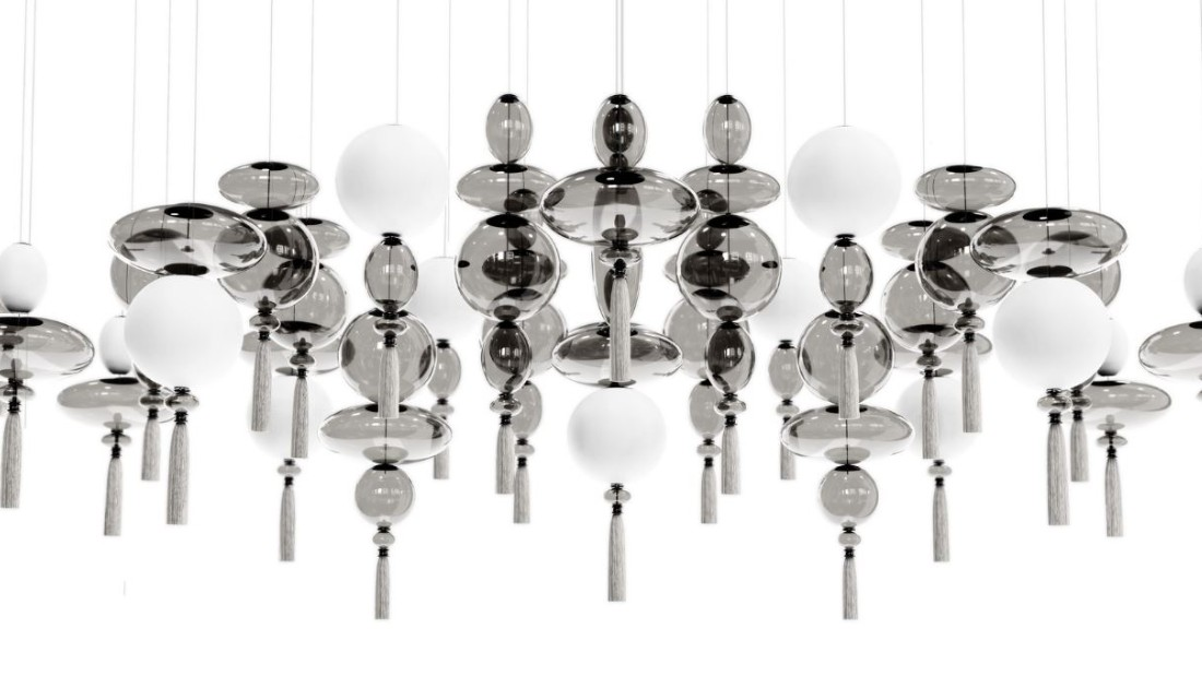 WonderGlass chandeliers by Marcel Wanders