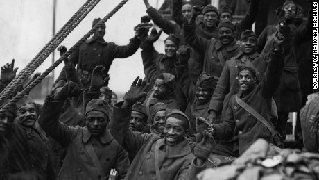 The Harlem Hellfighters infantrymen were renowned for their courage under fire during World War I.