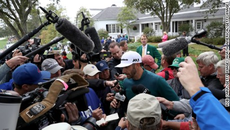Johnson withdrew from the Masters minutes before his tee time after failing to recover from a back injury.