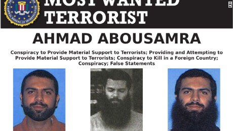 Ahmad Abousamra wanted poster