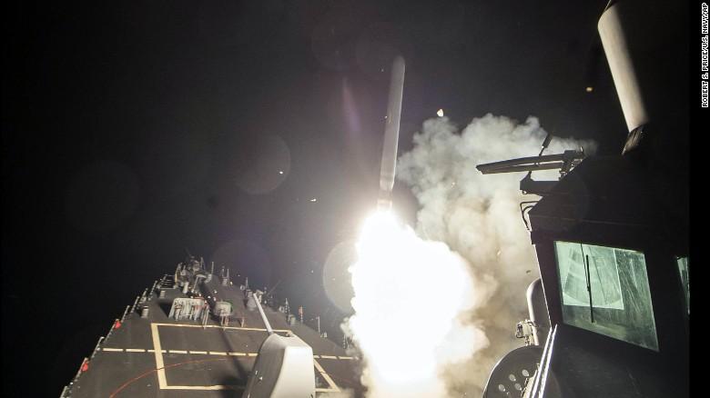 حمله موشکی آمریکا به سوریه