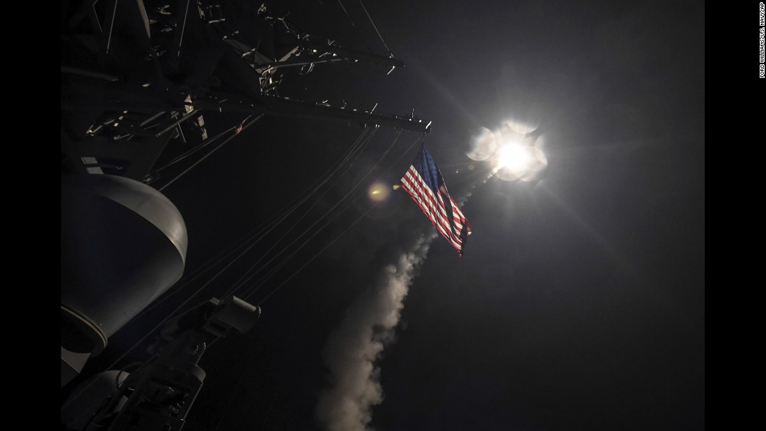 The strikes are the first direct military action the United States has taken against the leadership of Syrian President Bashar al-Assad during the country's six-year civil war.