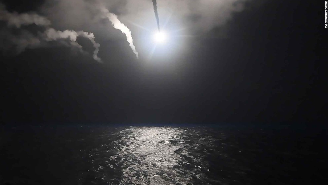Thirty-six of the Tomahawks were fired from the USS Ross and the other 23 were launched from the USS Porter, a US defense official told CNN.