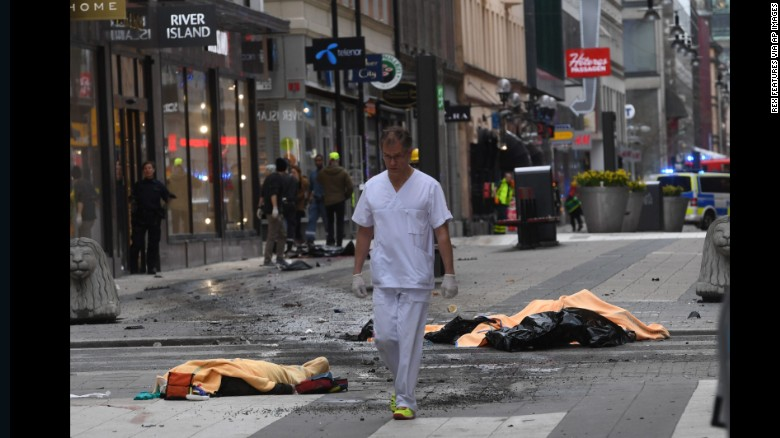 Image result for Stockholm truck attack leaves two dead, many injured
