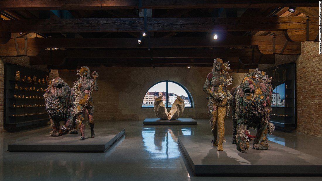 The exhibition's theme imagines that Hirst has discovered the wreck of an ancient vessel in the seabed off East Africa.
