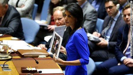 US envoy Nikki Haley says Syria regime change is inevitable