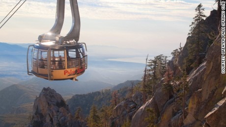 Go from sun to snow in less than an hour courtesy the Palm Springs Aerial Tramway.