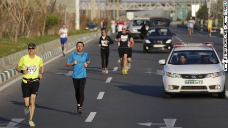 "More than 40 countries registered to run in the Iranian capital's first marathon, billed as an opportunity for the Middle Eastern nation to ""build bridges."""