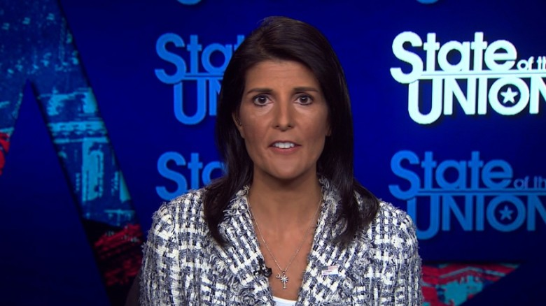 Haley: No political solution with Assad