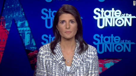 Jake Tapper interviews UN Ambassador Nikki Haley.