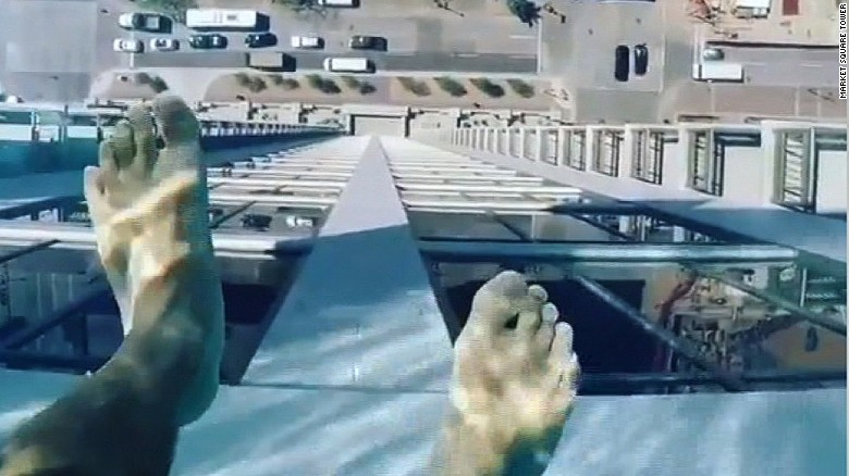 Glass bottom pool will give you heebie-jeebies