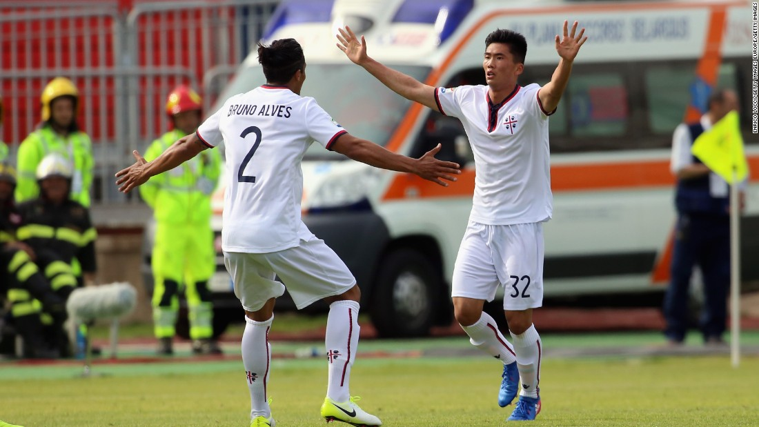 The goal might only have been a consolation in Cagliari's 3-2 defeat by Torino, but that didn't bother the teenager from Pyongyang.