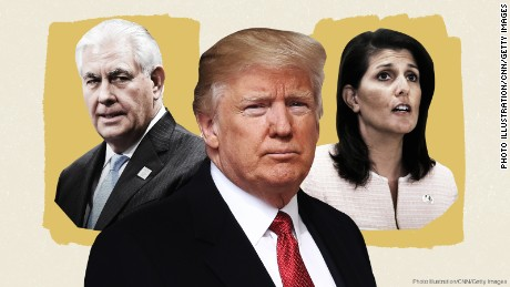 Nikki Haley says 'regime change' in Syria. Rex Tillerson doesn't. What gives?