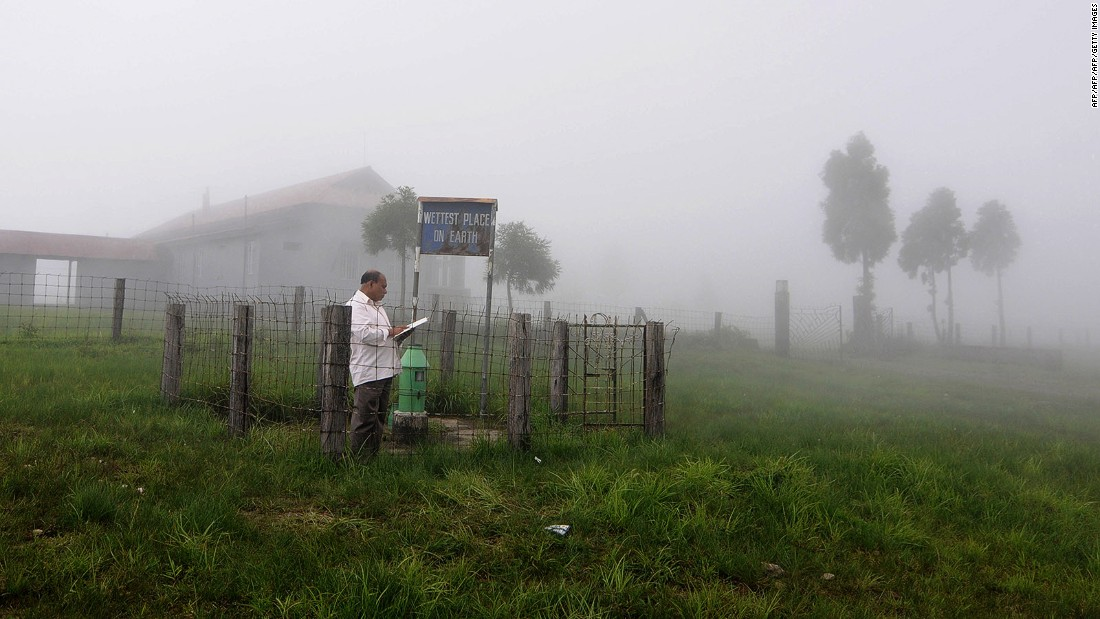 """<strong>Mawsynram (India):</strong> Averaging 467 inches of rain annually -- compared to 34.1 inches in """"rainy"""" Seattle -- Mawsynram village in the northeastern Indian state of Meghalaya is the wettest place on Earth."""