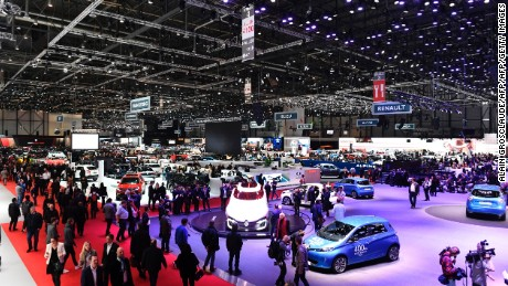 A picture taken on March 7, 2017 in Geneva shows a general view of the Geneva International Motor Show during the first press day. Europe's biggest annual car show kicks off in Geneva with luxury and crossover vehicles under the limelight, but with the emissions scandal still hanging over the industry. / AFP PHOTO / ALAIN GROSCLAUDE        (Photo credit should read ALAIN GROSCLAUDE/AFP/Getty Images)