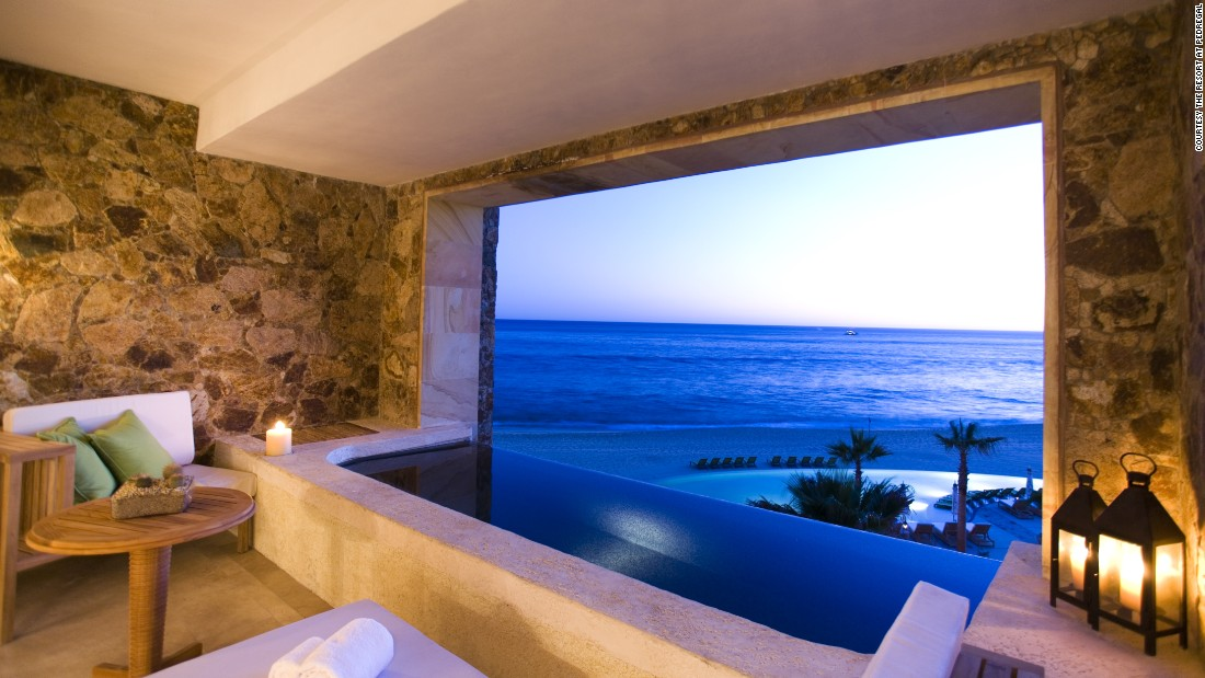 <strong>The Resort at Pedregal</strong> -- Located in Cabo San Lucas, Mexico, this property boasts rooms outfitted with private hot tubs overlooking the Pacific Ocean.