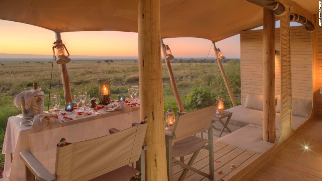 <strong>Kichwa Tembo Tented Camp<em></strong> -- </em>Overlooking<em> </em>Kenya's wild Masai Mara reserve, this resort features luxurious private tents.