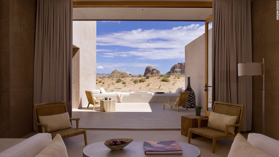 <strong>Amangiri </strong>-- This resort's 34 sleek suites are perfect for newlyweds, boasting private courtyards with show-stopping desert views.