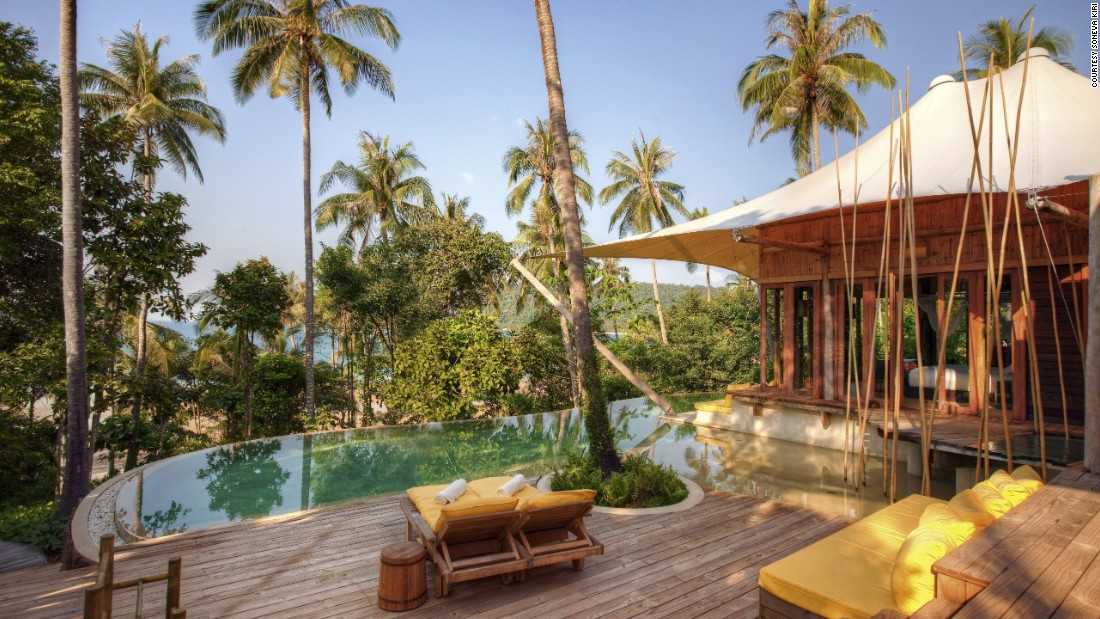 <strong>Soneva Kiri </strong>-- This resort in Koh Kood, Thailand, has just 36 thatched villas, each with its own private infinity pool and sundeck.