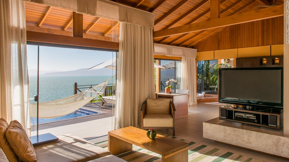 <strong>Ponta dos Ganchos</strong> -- This romantic hideaway on Brazil's picturesque Emerald Coast has 25 ocean-facing bungalows.