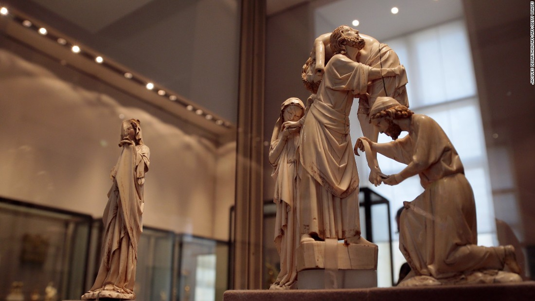 "The French sculpture<strong> </strong>""Descent from the Cross"" (circa 1260-1280) was displayed at the Louvre in 2012."