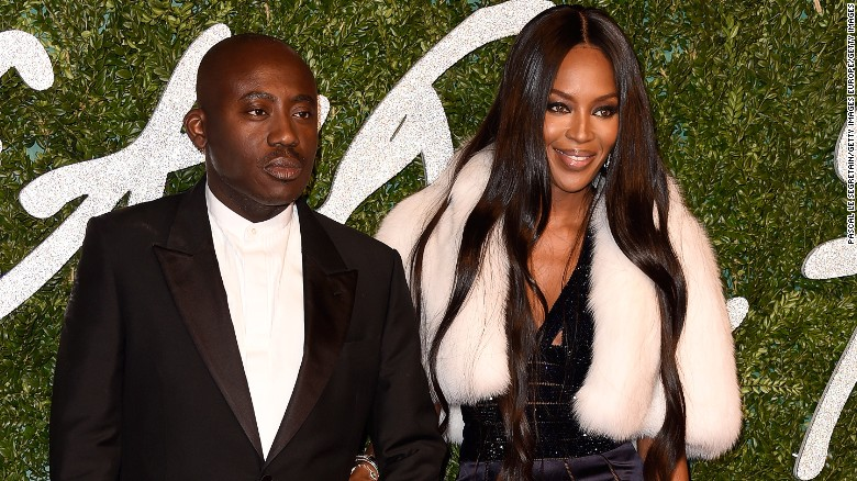Edward Enninful and Naomi Campbell attend the British Fashion Awards at London Coliseum in London.