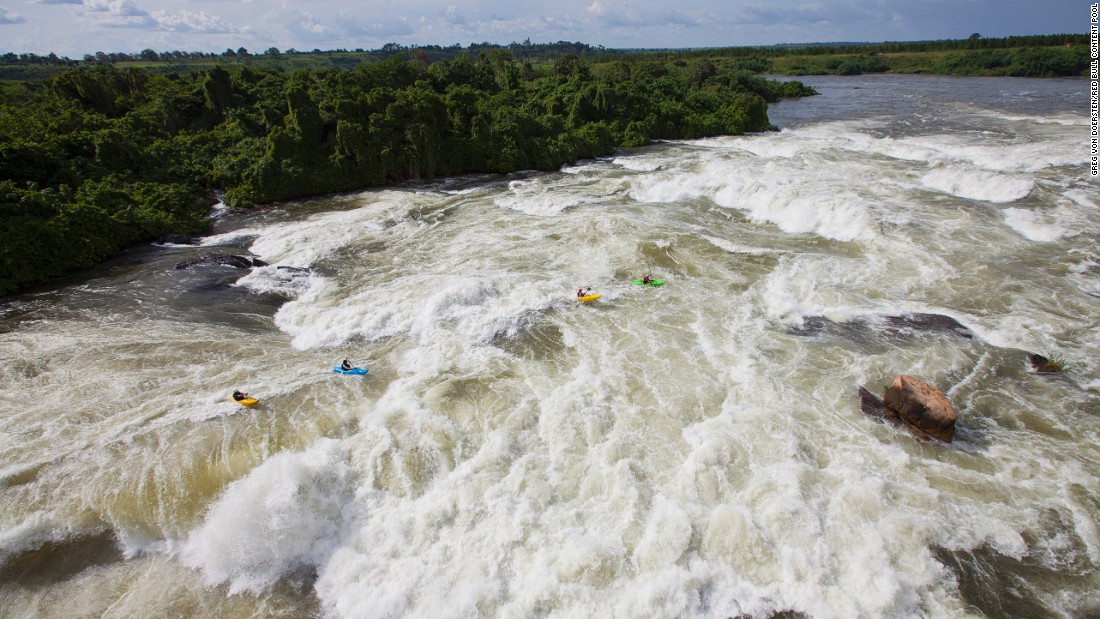 """<strong>The Inga rapids on the Congo River (Democratic Republic of Congo): </strong>A white-water kayaking team led by Steve Fisher attempted to brave the rapids -- on an expedition called <a href=""""http://ingaproject.com/"""" target=""""_blank"""">the Grand Inga Project </a>-- in 2011. Fisher was named one of National Geographic's Adventurers of the Year for the attempt."""