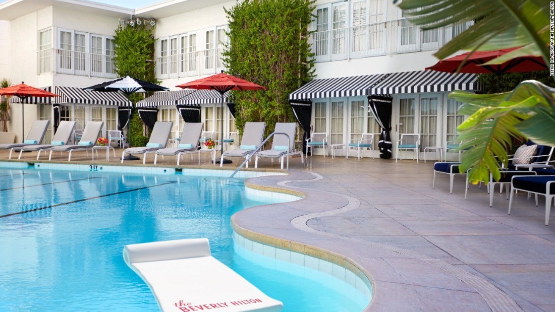 <strong>The Beverly Hilton</strong> -- Cabana suites at the Beverly Hilton in Los Angeles are breezy and open directly onto the pool deck.