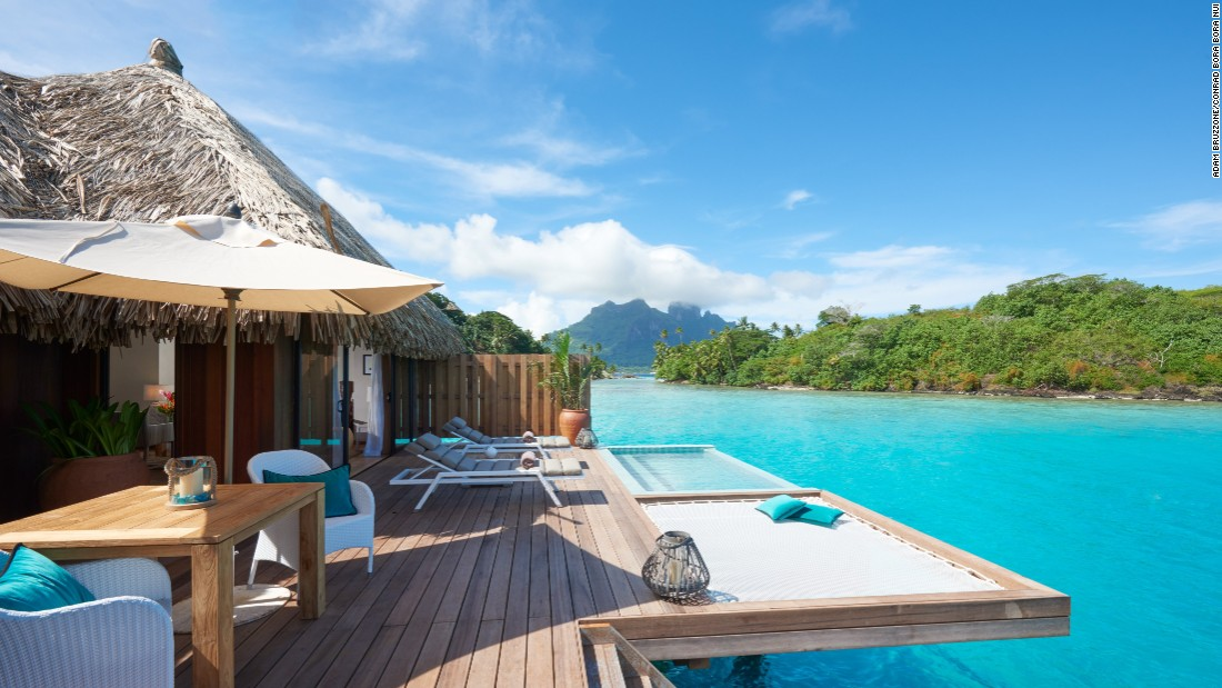<strong>Conrad Bora Bora Nui </strong>-- This brand-new property is the only resort in Bora Bora that offers two-story overwater bungalows.