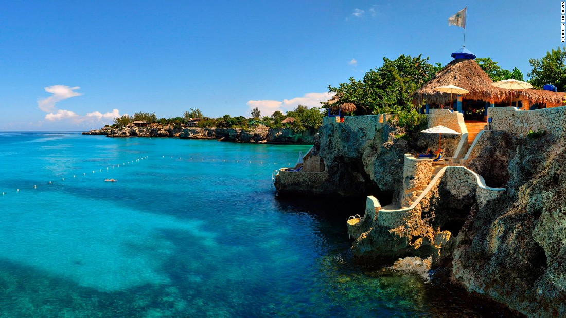 <strong>The Caves</strong> -- With its breezy, bohemian vibe and dramatic cliffside setting in Negril, the adults-only Caves hotel is one of Jamaica's most romantic escapes.