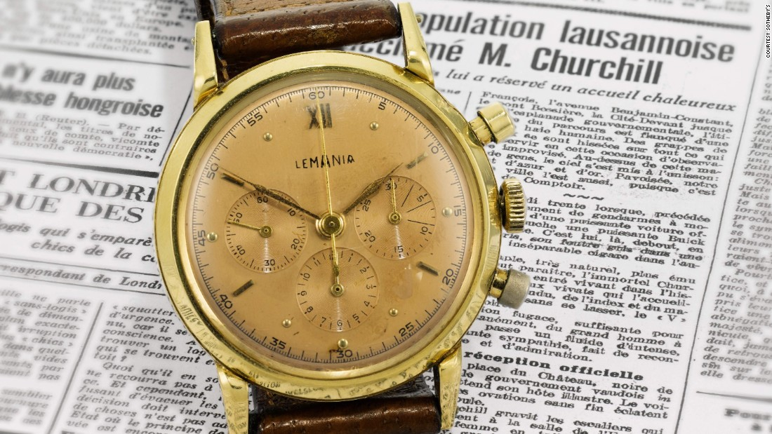 "On April 25, a Lemania chronograph once owned by Winston Churchill will be <a href=""http://www.sothebys.com/en/auctions/ecatalogue/2017/watches-sale-l17053/lot.160.html"" target=""_blank"">auctioned</a> by Sotheby's London."