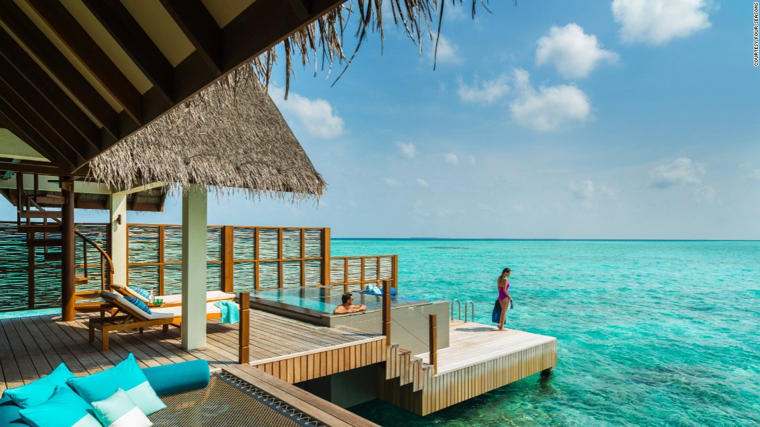 <strong>Four Seasons Resort Maldives at Landaa Giraavaru</strong> -- Each of this resort's standalone, thatched-roof bungalows features private water access.