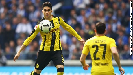 Marc Bartra was injured in the attack.