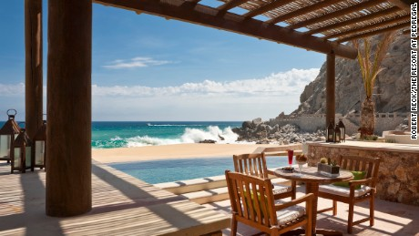 Some of the suites at The Resort at Pedregal open right onto the water.