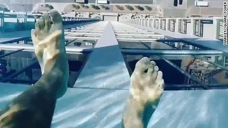 Glass-bottomed pool, Market Square Tower, Houston, Texas