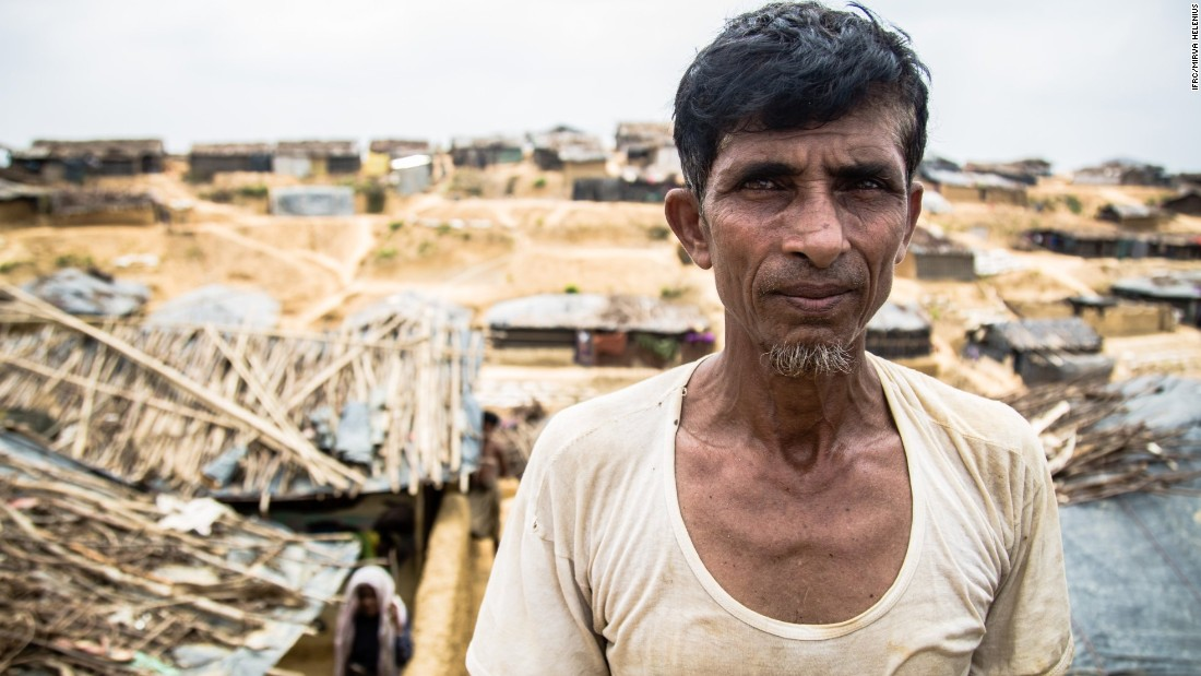 "Mohammad Ilias arrived from Rakhine to Bangladesh.<br /><br />""We are surviving mostly with some help from relatives. We would like to return, but it is not safe. Some of our neighbors were killed, and we had to flee to save our lives,"" he says."