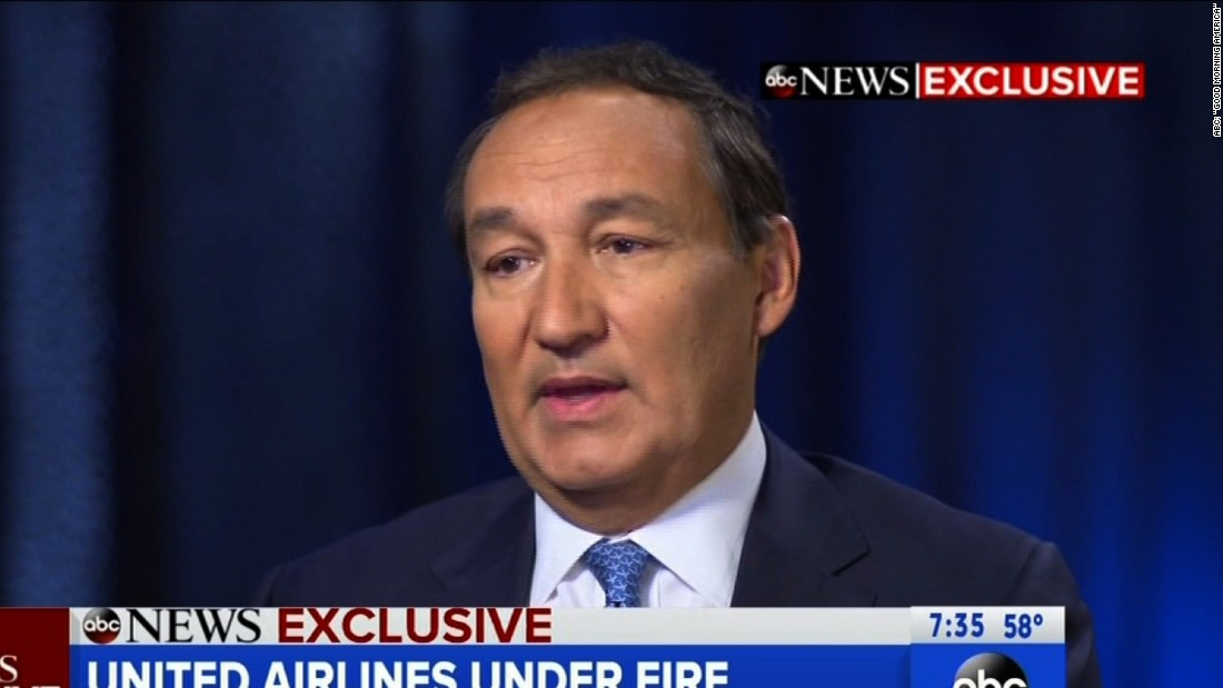 Good Morning America United Airlines : Ceo speaks out on united flight incident istackr