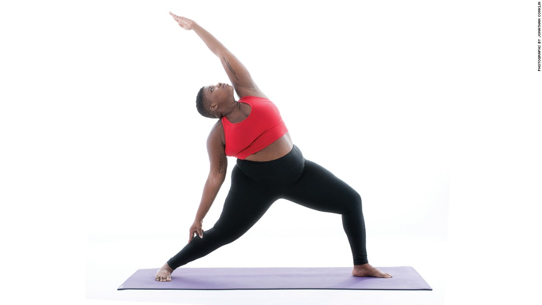 "<strong>Reverse Warrior: Viparita Virbhadrasana</strong> With your legs in the same position as Warrior II, ""sweep the palm of your front arm up and back while letting your rear hand touch your back thigh or calf."" Stanley also says, ""Spin the pink edge of your hand toward the ground, though your pinky does not need to actually face the ground.""<br />"