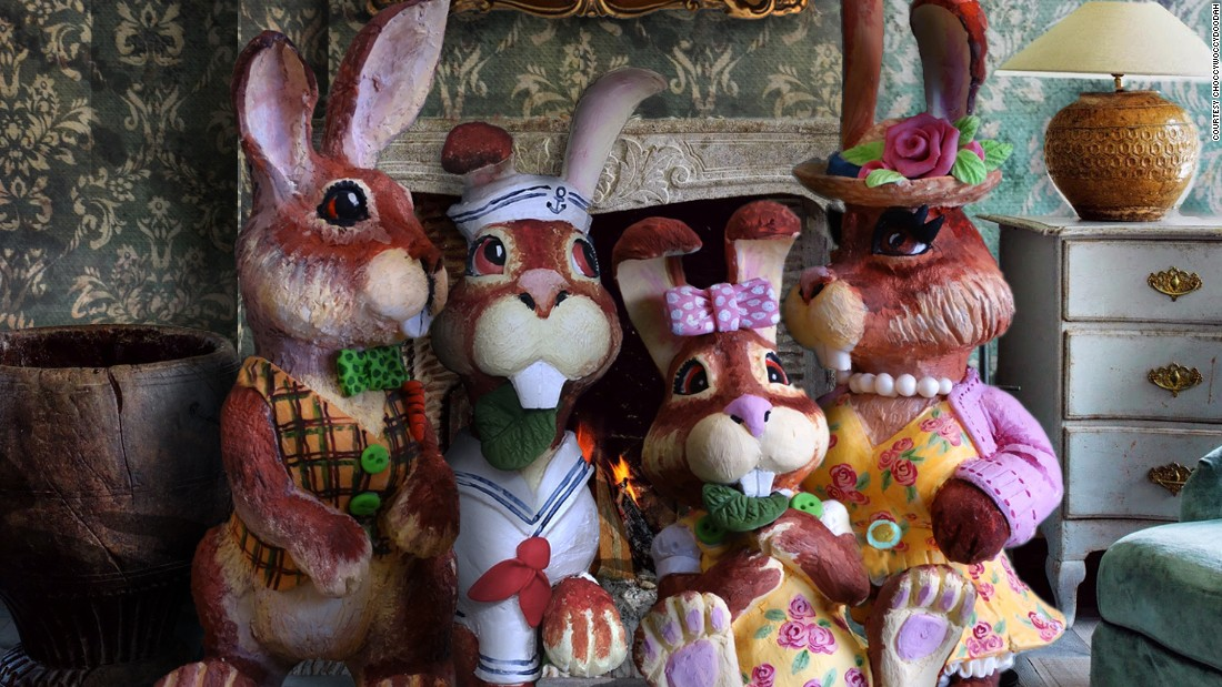 <strong>Hare Family Portrait: </strong>Choccy's London shop, meanwhile, went with a rabbit theme for their Easter creations.