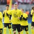 Dortmund players warming up