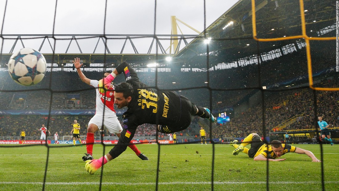 From bad to worse. Dortmund's Sven Bender scored an own goal, heading Andrea Raggi's cross into his own net, as the German side fell 2-0 behind in the first half.