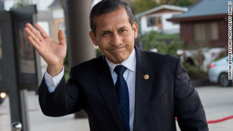 Peru's President Ollanta Humala arrives for a meeting of the III Pacific Alliance Business Summit in Frutillar, 1100 km south of Santiago, Chile, on June 30, 2016. / AFP / Martin BERNETTI        (Photo credit should read MARTIN BERNETTI/AFP/Getty Images)