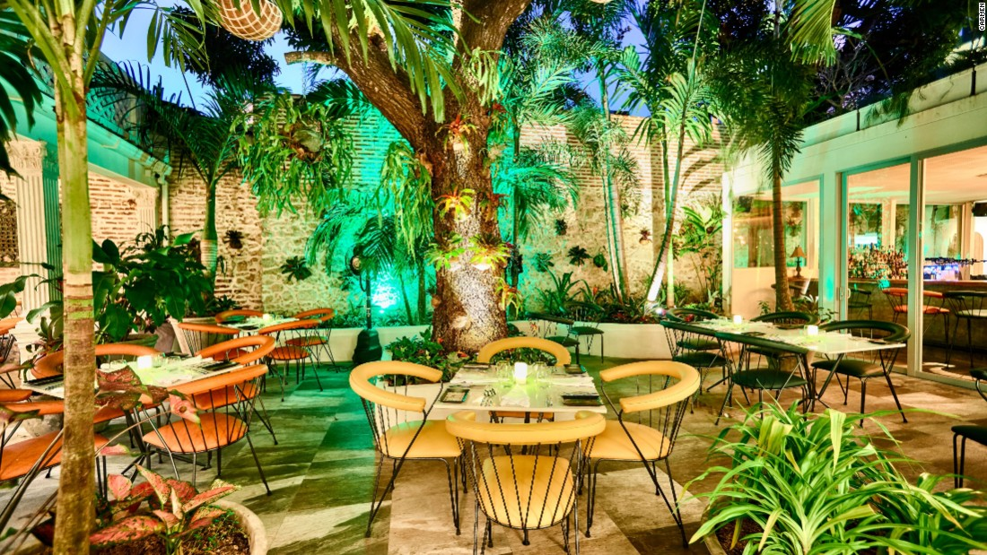 <strong>Carmen</strong>: The courtyard patio inside the restaurant has a magical look.