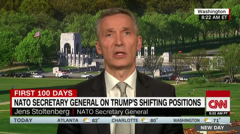 exp NATO Chief: Trump 'consistent' in NATO support_00002001